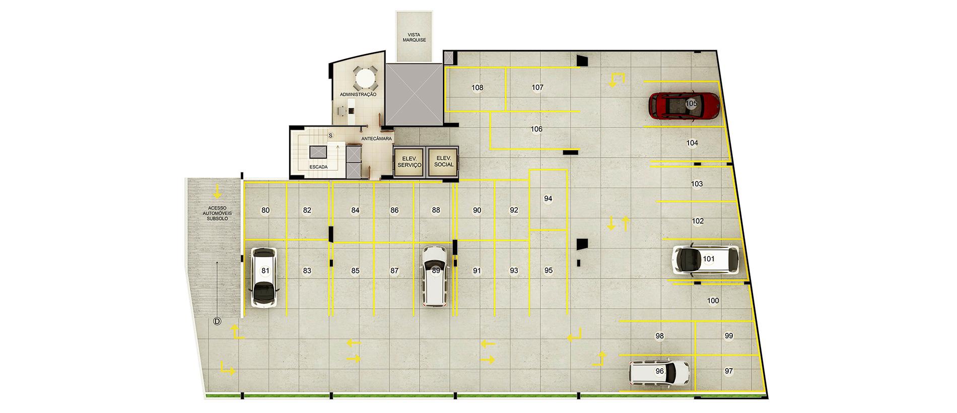 3- Planta Baixa Pavimento Garagem G1
