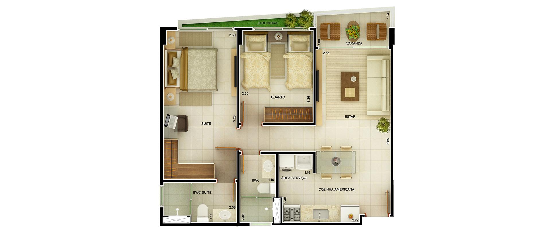 6- Planta Baixa Apartamento Tipo
